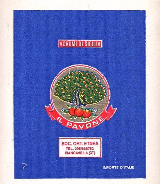 fruit wrapper labels, inspiration for our logo design