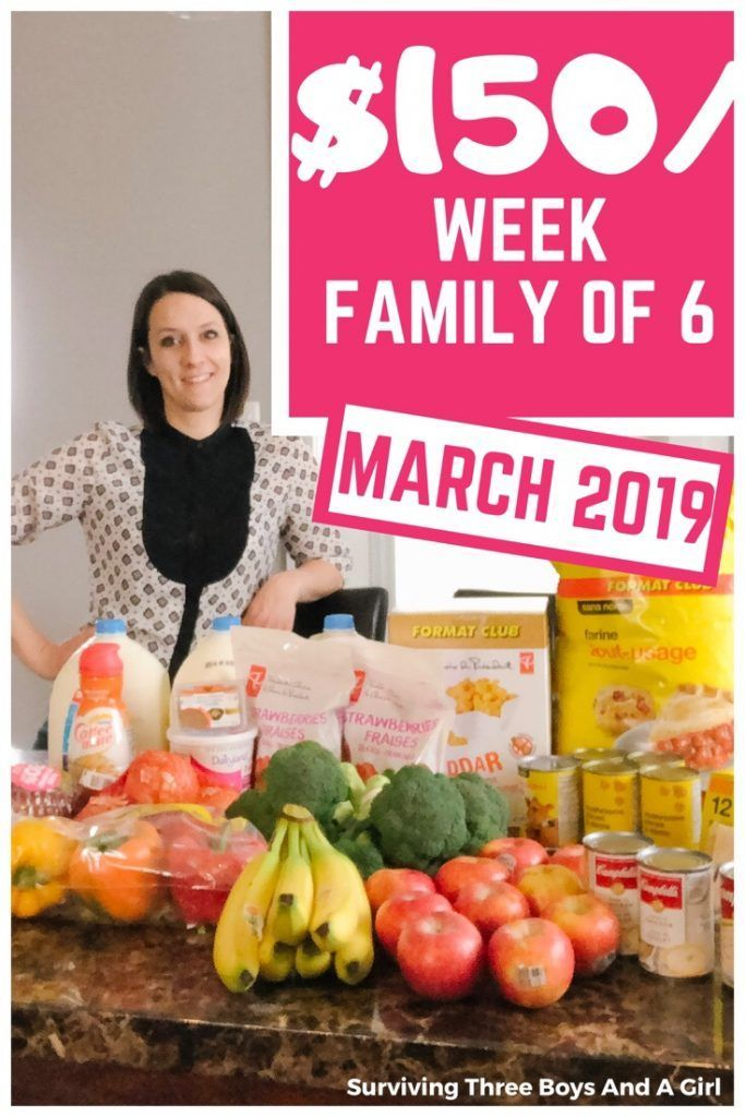 150 Week Food Budget Canada March Surviving Three Boys And A Girl Grocerybudget Frugalli Budget Meal Planning Budget Meals Budget Meal Planning Families