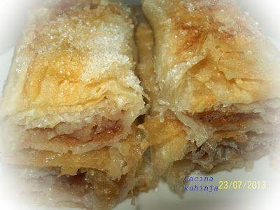 Cacina kuhinja: Pita sa jabukama za post na ulju