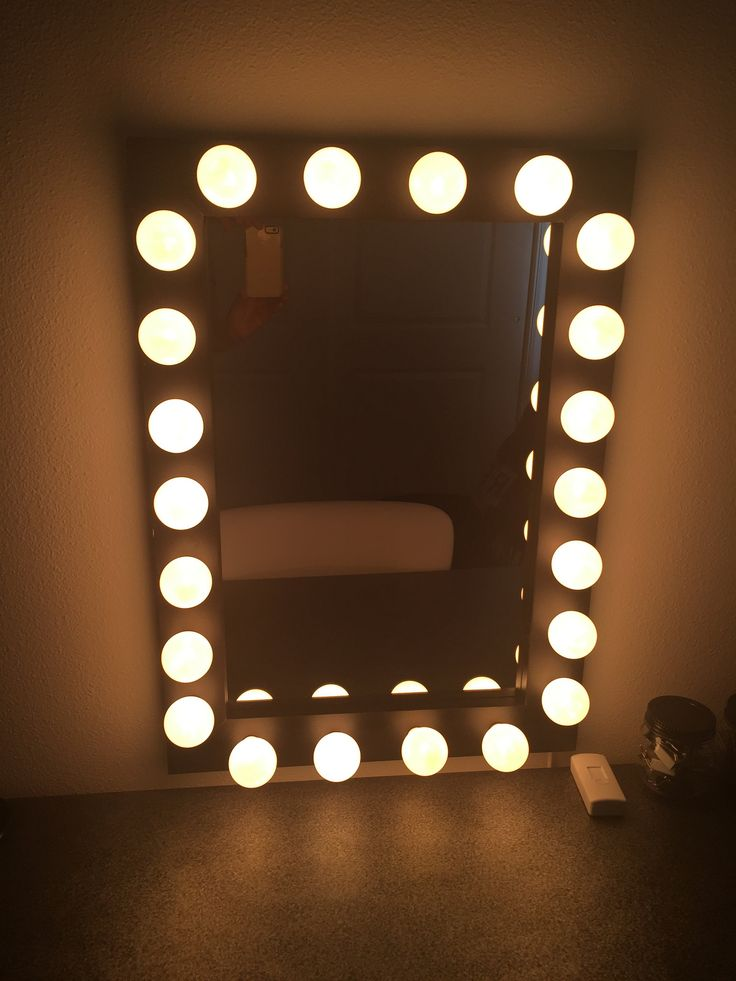 Mirror Made By  WoodUBeMine Shop Looks beautiful Great close up of Shannon s Lunar Eclipse Lighted Vanity and plug in dimmer slide on 82 best Mirrors images Pinterest