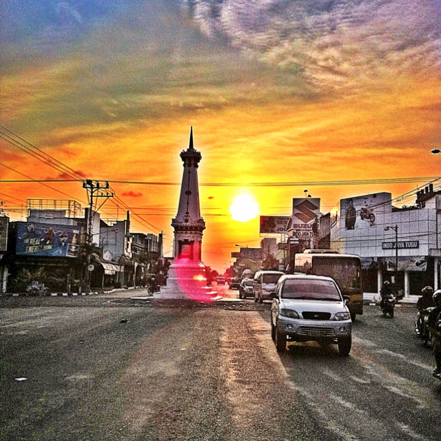 Sunset over the Yogyakarta Monument