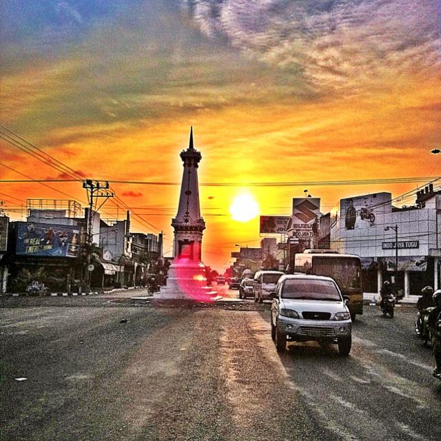Sunset over the Yogyakarta Monument