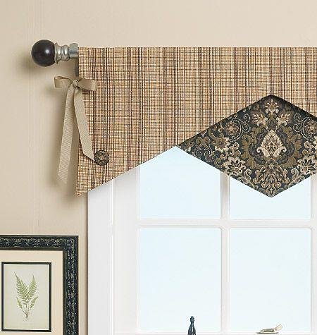 valance patterns reversible window valance home decorating butterick patterns - Valance Design Ideas