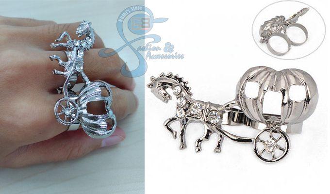 Cincin Fashion Korea Import Multiring Horse Diamond Unik