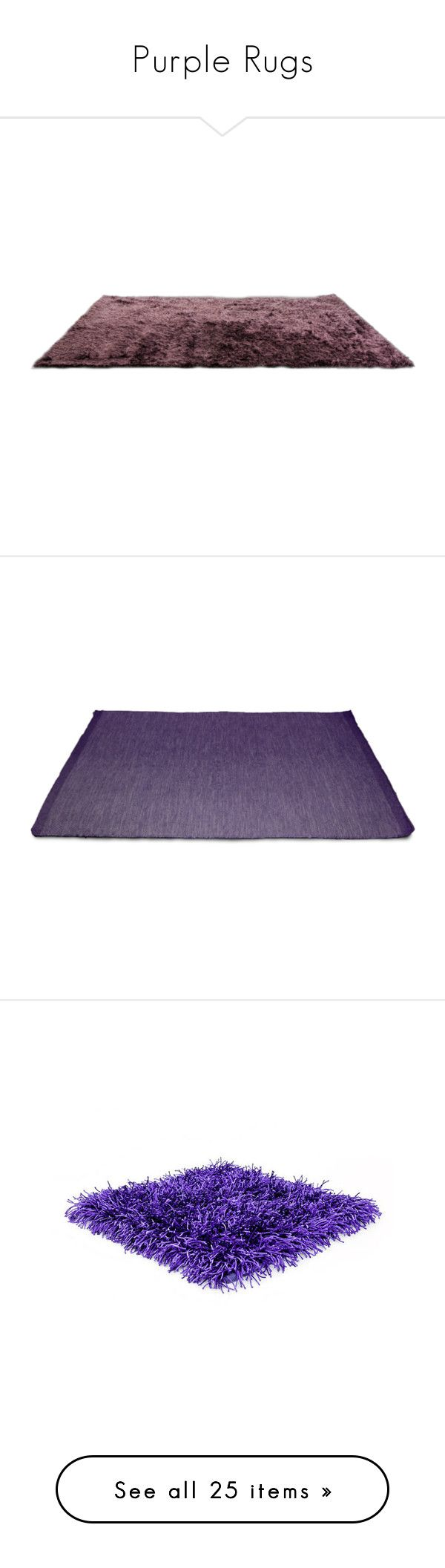 """Purple Rugs"" by lailoooo ❤ liked on Polyvore featuring rugs, tapete, accessories, home, modern area rugs, purple rug, modern rugs, purple area rugs, polyester rugs and purple wool rug"