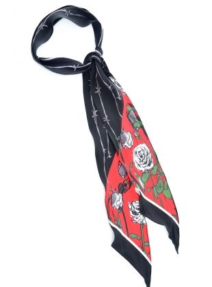 SUPER SKINNY SCARF IN ROSES by Rockins