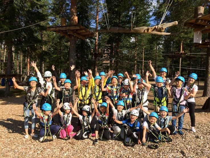 A group from China enjoying their time at the Arctic Adventure Park Huima in Rovaniemi, Finland!