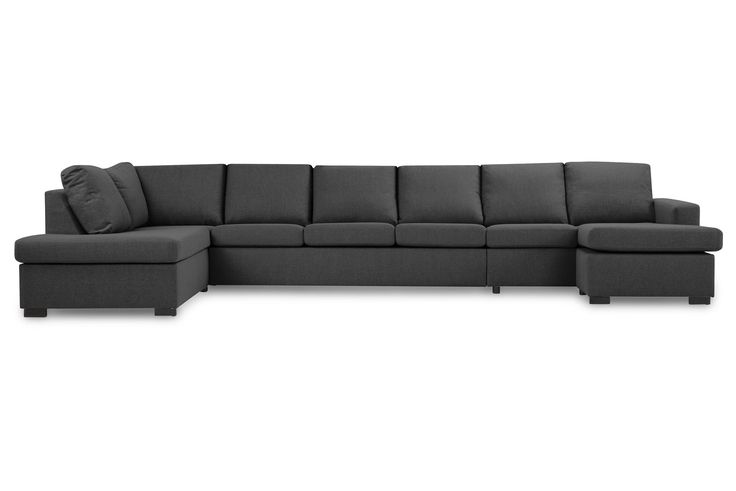 NEW YORK XXXL U-sofa Venstre Svart - U-sofa - Sofaer