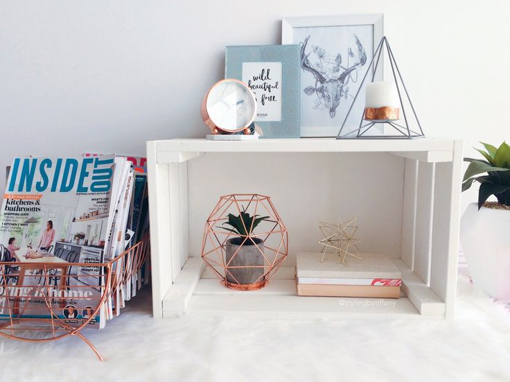 Side Table Styling Kmart Copper Dish Rack Repurposed As
