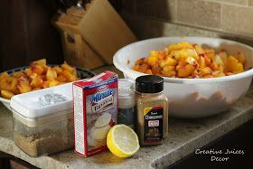 Creative Juices Decor: How to Use up LOTS of Peaches - Frozen Peach Pie Filling
