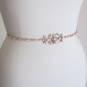 Anthropologie Accessories - Never worn - Skinny Rose Gold Bridal Belt Sash