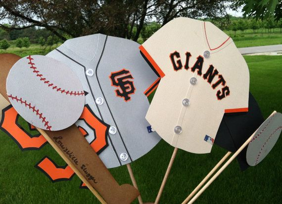 Photo booth props  SAN FRANCISCO GIANTS..... by flutterbugfrenzy, $28.00