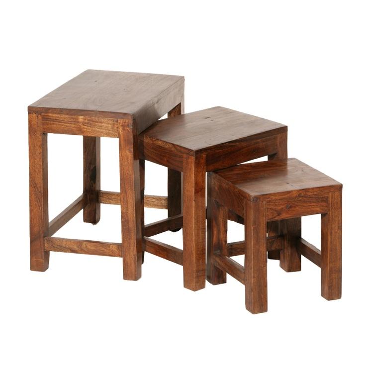 Table gigogne en bois d'acacia traditionnel Cilopy