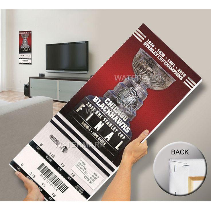 2013 NHL Stanley CupFinal Mega Ticket- Chicago Blackhawks