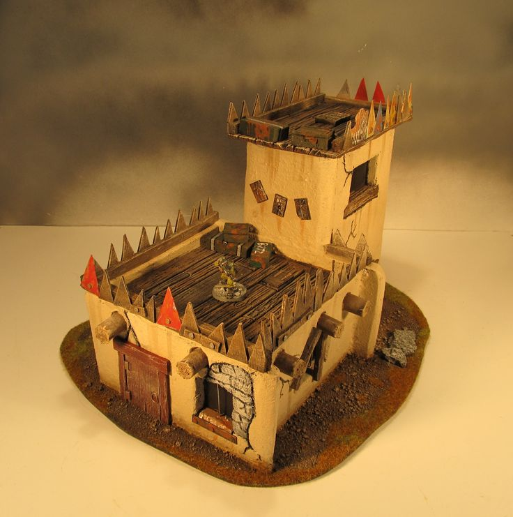 Model castle made from craftfoam #warhammer #modelmaking