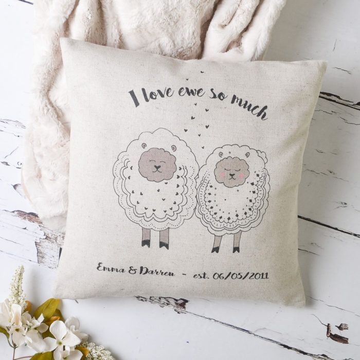 Punny Cushions By Vintagedesignsr See More Sheep Iloveewe Iloveyou Cushion Couple Gift Girlfriend Boyfriend