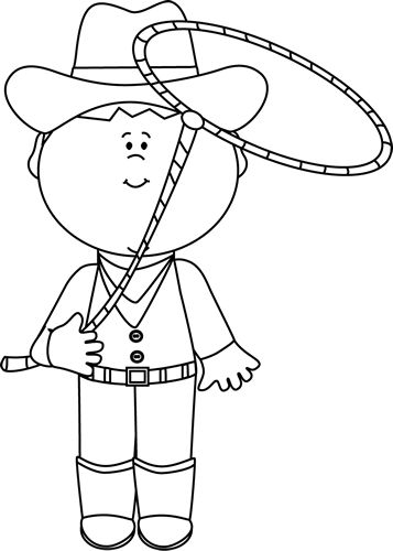 Western Black And White Clip Art