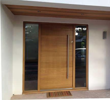 25 best ideas about modern exterior doors on pinterest for Contemporary house door designs