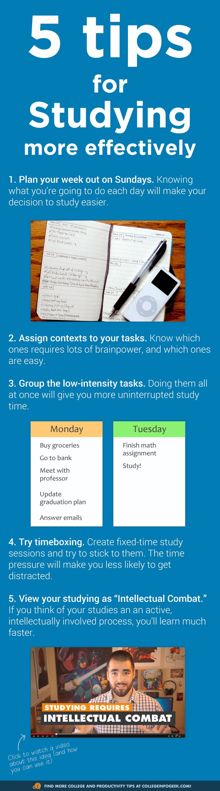 5 awesome #study tips for learning more in less time (more tips in the video)