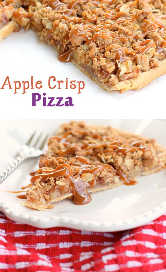 Apple dessert recipes easy - Apple Crisp Pizza