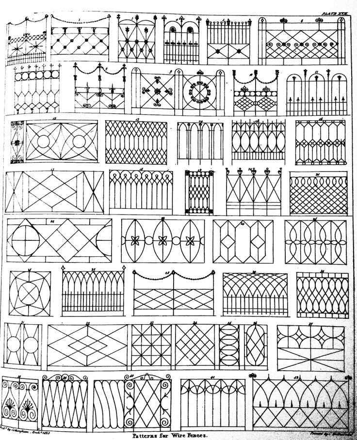 Victorian designs for gates and fences