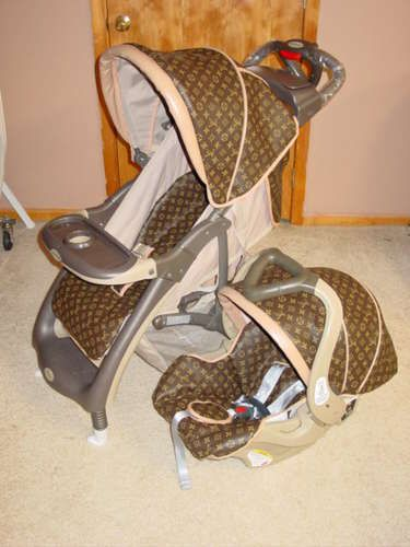 Louis Vuitton Baby Car Seat And Stroller
