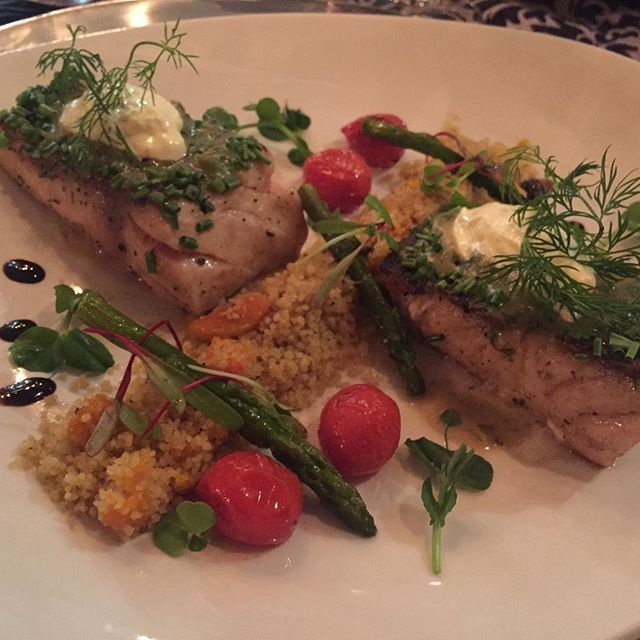 Poppy seed and chive crusted grilled line fish #CelebratingFood