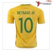 Le Nouveau maillot pas cher Bresil NEYMAR JR 10 2016 2017 Domicile