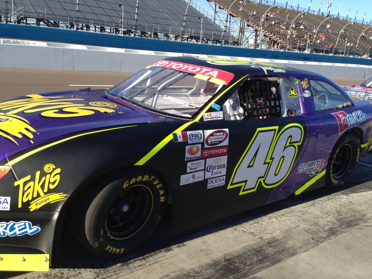The #Takismobile in living color!! – NASCAR MEXICO TOYOTA SERIES 120, Phoenix International Raceway #Takis