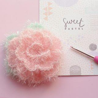 Fleur en laine creative bubble