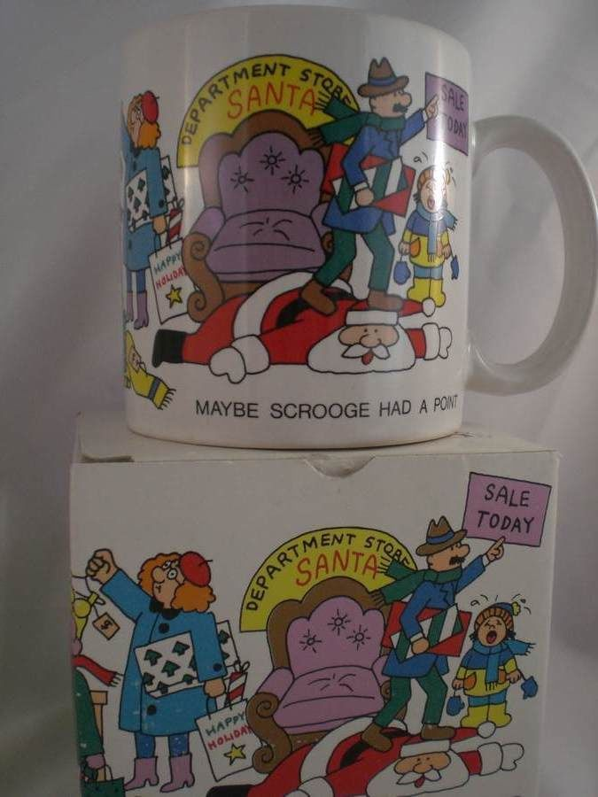 Black Friday Shopping  Maybe Scrooge Had It Right  Christmas Mug Novelty Cup