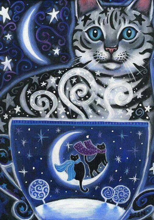 Cat art by Brenna White