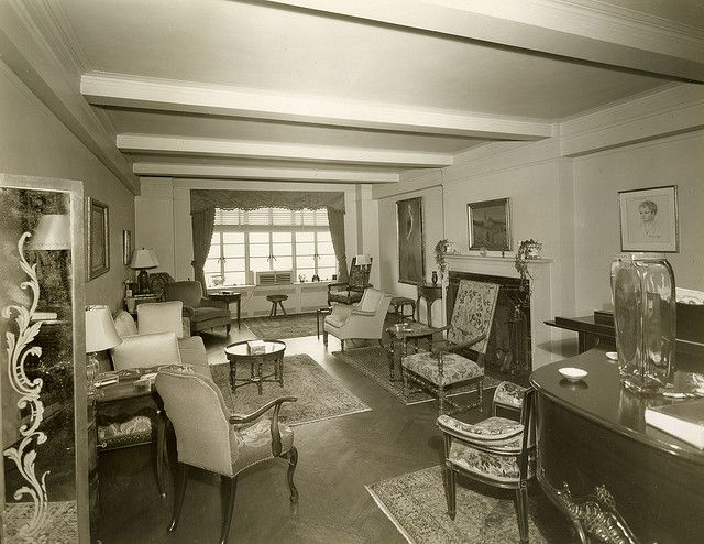 1930s living room: New York Cities, Cities Apartment, 1930 Design, Nyc Apartment, 1930S Living, Digital Libraries, Apartments, Photos Shared, 1930S Design