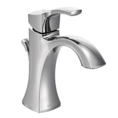 MOEN Voss Single Hole 1-Handle High-Arc Bathroom Faucet in Chrome-6903 - The Home Depot