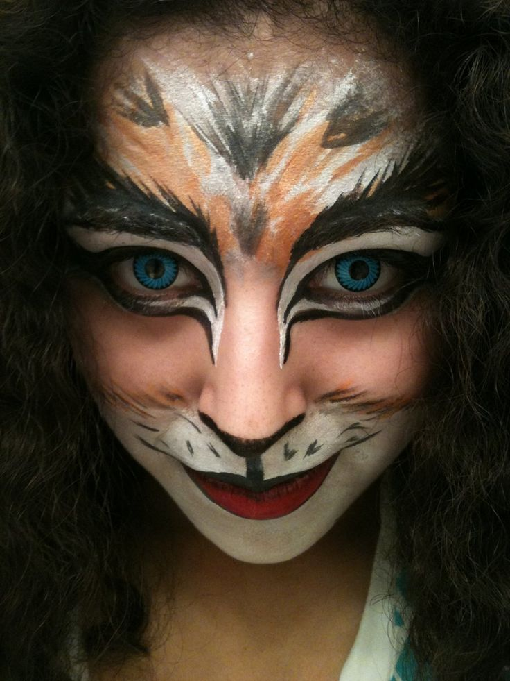 cats inspired makeup halloween facehalloween - Halloween Makeup For Cat Face