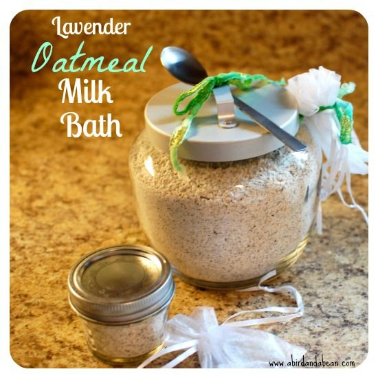 Lavender Oatmeal Milk Bath Salts perfect easy DY Mother's Day gift.