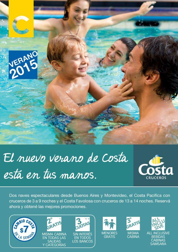 ¡BENEFICIOS COSTA! Hacé hoy tu reserva y recibi los mejores beneficios que #Costa Cruceros puede darte!