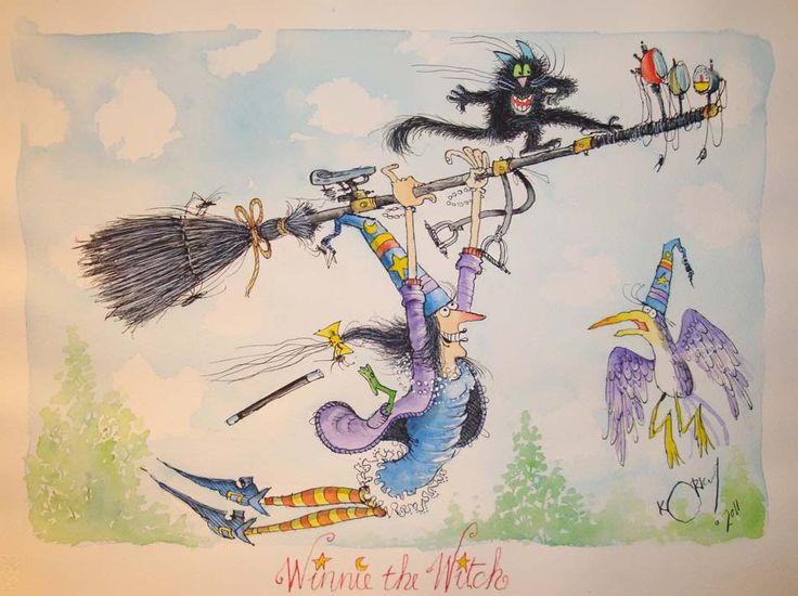 Korky Paul- Winnie the Witch Illustration- Inspirational