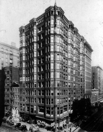 Tacoma Building, 1889, Chicago; Holabird U0026 Roche, Iron And Steel Structure,