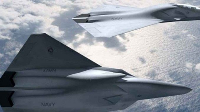 "Washington DC – Northrop Grumman, perusahaan produsen pesawat tempur siluman ini, telah mengungkapkan gambar menggoda dari pesawat tempur siluman ""superjet"" terbaru yang mampu menembakkan senjata laser"