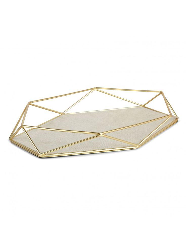 Raiden Jewelry Tray, Brass