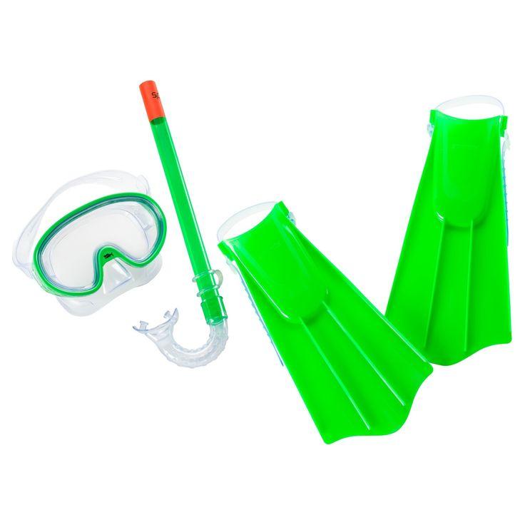 Speedo Kids Discovery Snorkel Set - Green (Large/Extra Large)