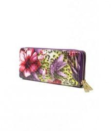 W003 Wallet Flower Paars