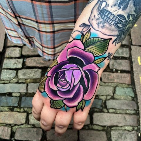 Rose Hand Tattoo... Matt Webb