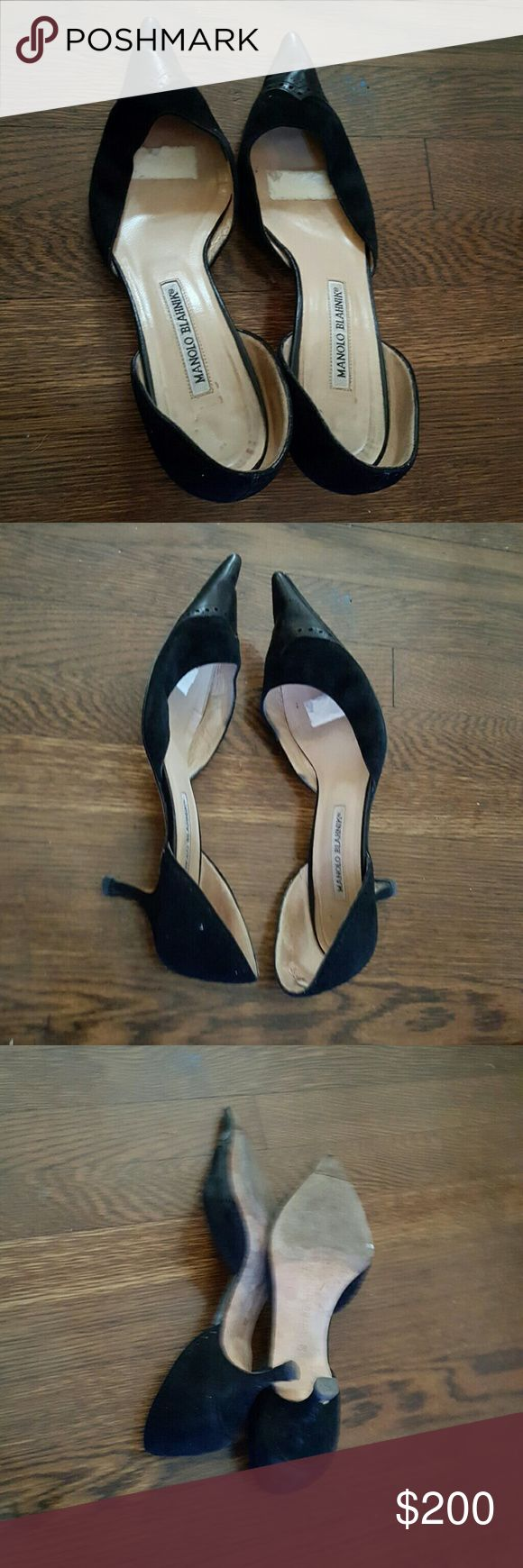 Selling this Manolo Blahnik low heel in my Poshmark closet! My username is: fludrey. #shopmycloset #poshmark #fashion #shopping #style #forsale #Manolo Blahnik #Shoes