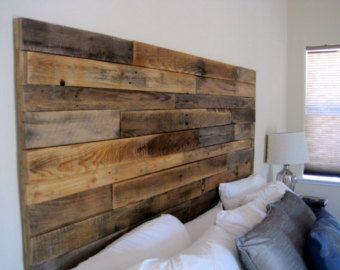 Escultura de madera cabecero madera moderna por WallWooden en Etsy