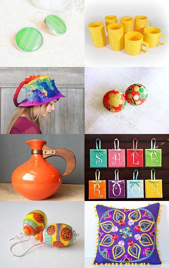 Happy Happy Colors by Needle And Line on Etsy--Pinned with TreasuryPin.com