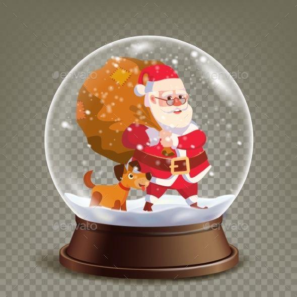 Christmas Snow Globe Realistic Vector Christmas Snow Globes Christmas Snow Xmas Snow Globe