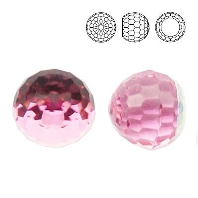 4869 Ball 6mm Light Rose CAVZ  Dimensions: 6,0 mm Colour: Light Rose CAVZ 1 package = 1 piece