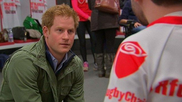 Walking? It's time Prince George started running! Prince Harry jokes with London Marathon hopefuls   Daily Mail Online